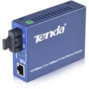 (119110) Сетевой коммутатор TENDA TER860S, медиаконвертор, одномод, Тип SC, 2х100Мбит/с RJ45, 1хTX и 1RX, до 25-км