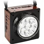 (1006825) Радиоприемник портативный Сигнал Vikend Fisher черный (FM, MP3, SD, USB, светодиодный фонарь, встроенный аккумулятор)