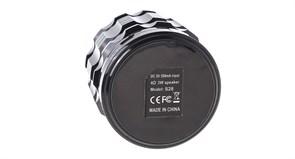 (174549) Мини-спикер S28, 3W, 400mAh, microSD, bluetooth, подсветка, Silver