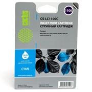 (1006778) Картридж струйный Cactus CS-LC1100C голубой для Brother DCP-385c/6690cw/MFC-990/5890/5895/6490 (16мл