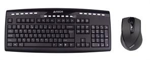 (1006861) Клавиатура + мышь A4 V-Track 9200F клав:черный мышь:черный USB беспроводная Multimedia