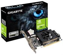 (1006955) Видеокарта Gigabyte PCI-E GV-N710D3-2GL NV GT710 2048Mb 64b DDR3 954/ 1800 DVIx1/ HDMIx1/ CRTx1/ HDCP Re