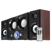 (1006973) Акустическая система 2.1 CROWN CMS-3800 (36W; приёмник FM; картридер; интерфейс USB;  пульт)