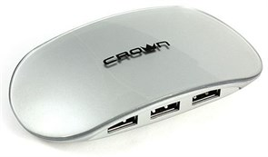 (1006978) Хаб USB CROWN CMH-B20 4 PORTS (silver) 2.0