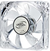 (1007137) Вентилятор корпусной Deepcool XFAN 80L/R 80x80x25 3pin 20dB 1800rpm 60g красный LED