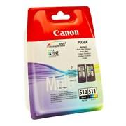 (1007140) Картридж струйный Canon PG-510/CL-511 2970B010 многоцветный/черный набор карт. для Canon 240/260/280