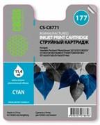 (3330621) Картридж струйный Cactus CS-C8771 голубой для №177 HP PhotoSmart 3213/ 3313/ 8253/ C5183/ C6183 (11,4ml)