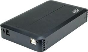 "(1007165) Внешний корпус для HDD AgeStar 3UB3O8 SATA пластик/алюминий черный 3.5"""