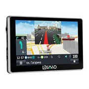 "(1007263) Навигатор Автомобильный GPS Lexand SA5 HD 5"" 800x480 4Gb microSD FM серый Navitel 8.7 с расширенным"