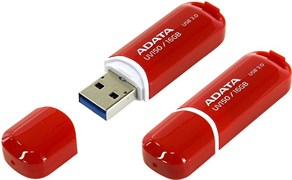 (165158) Накопитель USB Flash  64Gb ADATA UV150 (AUV150-64G-RRD), USB3.0, Red, RTL