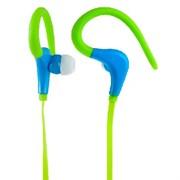 (1007203) Perfeo наушники внутриканальные с креплением за ухом спортивные FITNESS зелёные/синие