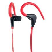 (1007204) Perfeo наушники внутриканальные с креплением за ухом спортивные FITNESS красные/чёрные