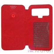 """(1007235) Чехол-книжка Krutoff универсальный для смартфонов 5,5""""-6"""" с вырезом под камеру, красный"""