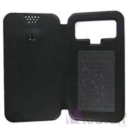 """(1007236) Чехол-книжка Krutoff универсальный для смартфонов 5,5""""-6"""" с вырезом под камеру, черный"""