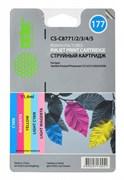 (1001180) Набор картриджей Cactus CS-C8771/2/3/4/5 многоцветный для №177 HP PhotoSmart 3213/ 3313/ 8253 (11,4ml