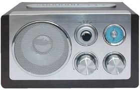 (1007289) Радиоприемник портативный Сигнал БЗРП РП-318 серебристый (Разъём USB, слот под SD карту)