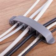 (178656)  Клипса на 6 кабелей с системой крепления Espada EK63 (упаковка 3 шт.) цвет серый