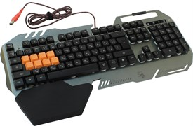 (1007333) Клавиатура A4 Bloody B418 серый USB Multimedia Gamer LED