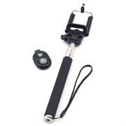 (1007348) Держатель для селфи CROWN CMSS-001 Black (Bluetooth) (Для устройств шириной до 9см, максимальная длина в разложенном состоянии 110см, управление камерой с помощью брелока Bluetooth, для Apple и Android)
