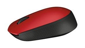 (183092) Мышь беспроводная Logitech Mouse M171 Wireless (910-004641) Red