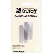 (1007388) Пленка защитная Krutoff для iPhone 5/5S, комплект на две стороны, глянцевая