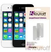 (1007389) Пленка защитная Krutoff для iPhone 5/5S, комплект на две стороны, матовая