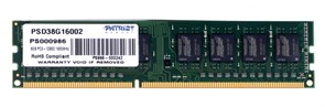 (1007470) Память DDR3 8Gb 1600MHz Patriot PSD38G16002 RTL PC3-12800 CL11 DIMM 240-pin