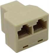 (169733)  Переходник-разветвитель 5bites LY-US027,  8P8C Jack -> 2 x 8P8C Jack RJ-45