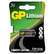 (1007492) Батарея GP Lithium CR123A (1шт.уп.)