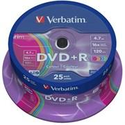 (1007522) Диск DVD-R Verbatim 4.7Gb 16x Cake Box (25шт) (43730)