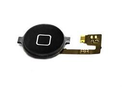 (1007546) Кнопка HOME в сборе с механизмом и шлейфом для Apple iPhone 4 черная