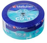 (1007618) Диск CD-R Verbatim 700Mb 52x Cake Box (25шт) (43726)