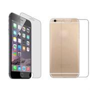 (1007592) Стекло защитное цветное Krutoff Group для iPhone 6/6S на две стороны матовое (silver)