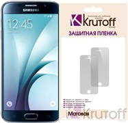(1007657) Пленка защитная Krutoff для Samsung Galaxy S6 edge (SM-G925F), матовая