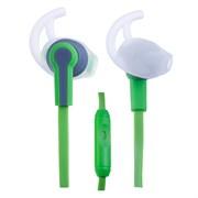 (1007685) Perfeo PF-SPT-GRN/GRY наушники спортивные внутриканальные c микрофоном SPORT зеленые с серым