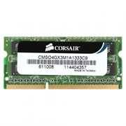(1007714) Память DDR3 4Gb 1333MHz Corsair CMSO4GX3M1A1333C9 RTL PC3-10600 CL9 SO-DIMM 204-pin 1.5В