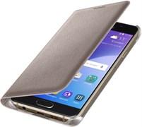 (1007707) Чехол (клип-кейс) Samsung для Samsung Galaxy A7 (2016) Flip Wallet золотистый (EF-WA710PFEGRU)
