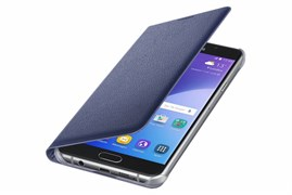 (1007706) Чехол (клип-кейс) Samsung для Samsung Galaxy A7 (2016) Flip Wallet черный (EF-WA710PBEGRU)