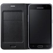 (1007747) Чехол (флип-кейс) Samsung для Samsung Galaxy J3 Flip Wallet черный (EF-WJ320PBEGRU)