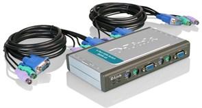 (1007834)  KVM-переключатель D-Link DKVM-4K, на 4 компьютера