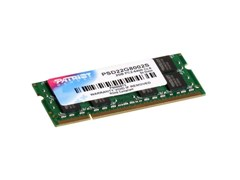 (1007815) Память DDR2 2Gb 800MHz Patriot PSD22G8002S RTL PC2-6400 CL6 SO-DIMM 200-pin 1.8В