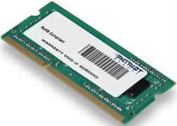 (1007816) Память DDR3 4Gb 1333MHz Patriot PSD34G133381S RTL PC3-10600 CL9 SO-DIMM 204-pin 1.5В