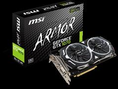 (1007824) Видеокарта MSI PCI-E GTX 1070 ARMOR 8G OC NV GTX1070 8192Mb 256b GDDR5 1556/8008 DVIx1/HDMIx1/DPx3/H