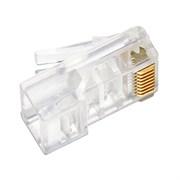 (1007793) Коннектор 5bites US010 RJ-45 8p8c 6кат., зол.напыление