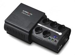 (1007777) Источник бесперебойного питания CROWN CMUS-650C 650VA/390W, аккумулятор 1*12V/7AH, розетки 3*EURO +2*EURO bybass, трансформатор AVR 145-280V, COM порт RS232 , фильтр RJ 45, ПО, защита батареи, от перегрузки, от КЗ