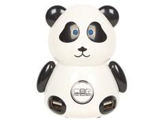 (Код: 1008053) USB-концентратор CBR MF-400 Panda, 4 порта, USB 2.0, игр.пингвин, MF 400 Panda