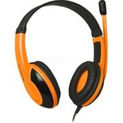 (1008135)  Гарнитура Defender Warhead G-120 игровая, черная/оранжевая