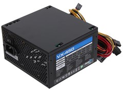 (1008151) Блок питания Aerocool ATX 450W VX-450 (24+4+4pin) 120mm fan 2xSATA RTL