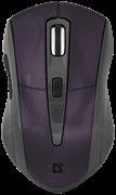 (191735) Мышь беспроводная Defender Accura MM-965, 800-1600 dpi, фиолетовая  (52969)