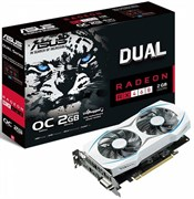 (1008293) Видеокарта Asus PCI-E DUAL-RX460-O2G AMD RX460 2048Mb 128b GDDR5 1224/ 7000 DVIx1/ HDMIx1/ DPx1/ HDCP Re